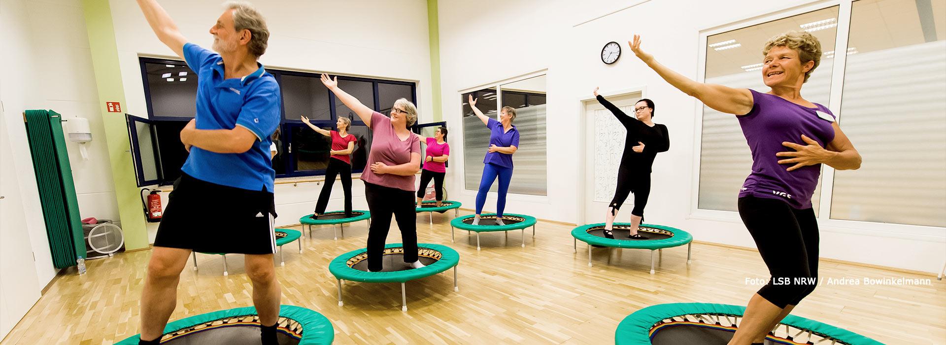 <small>Rebounding und Jumping Fitness:</small>In Schwung kommen